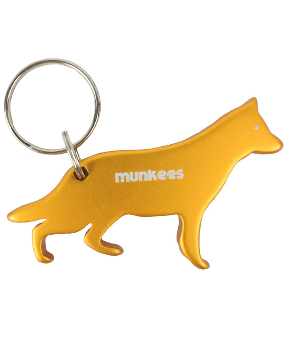 Munkees Dog Bottle Opener Keychain - German Shepherd
