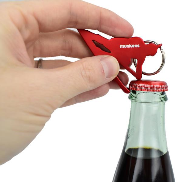 Munkees Athlete Bottle Opener Skier Keychain