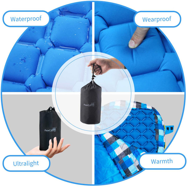 Ultralight Inflatable Sleeping Pad With Pillow