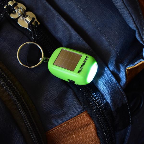 Munkees Mini Solar Dynamo LED Flashlight with Keychain