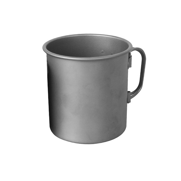 Single Wall Titanium Mug with Light Finish, Marked down 20%