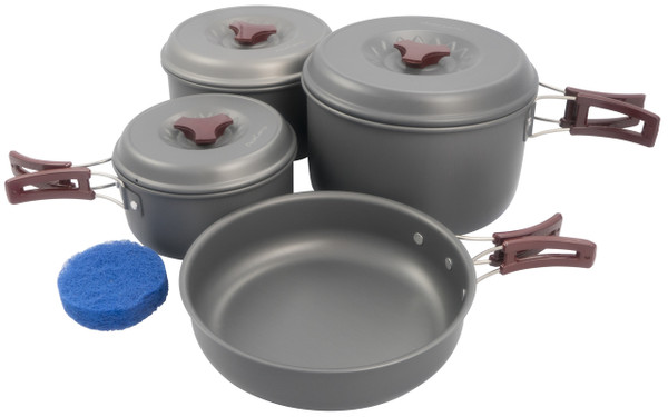 Hard-anodized Large cooking set