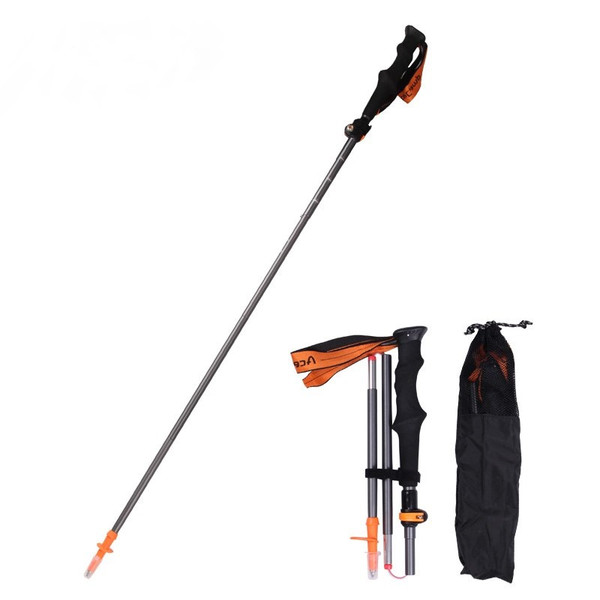 Retractable 5-Section Aluminum Alloy Mountain Climbing Hiking Walking Stick Adjustable Trekking Pole