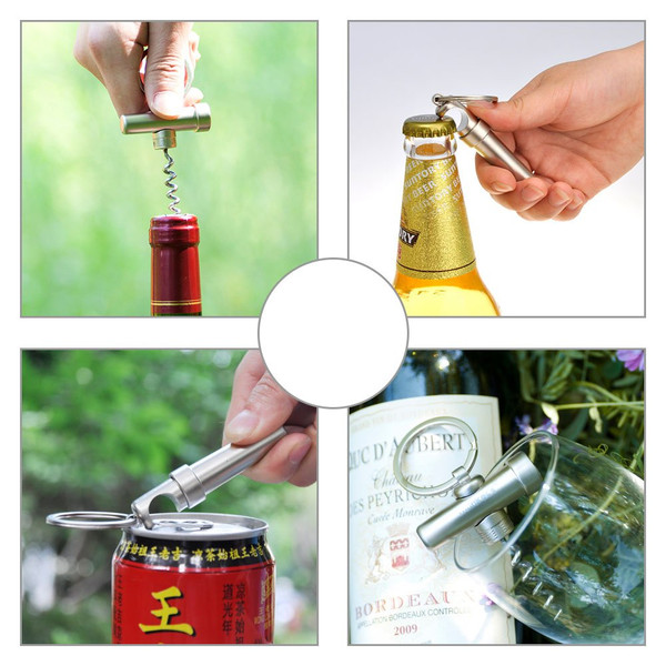 Munkees Mini Corkscrew Wine Opener