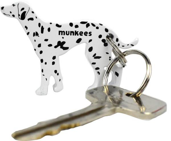 MUNKEES DOG BOTTLE OPENER KEYCHAIN - DALMATIAN