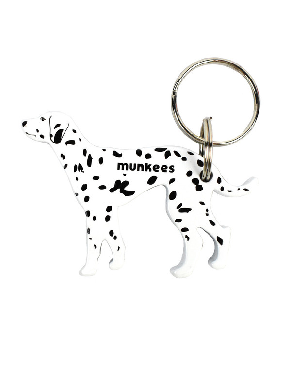 Munkees Dog Bottle Opener Keychain - Dalmatian