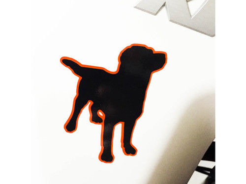 BDCW - Marketing - Decal - BDCW logo (black, orange outline)