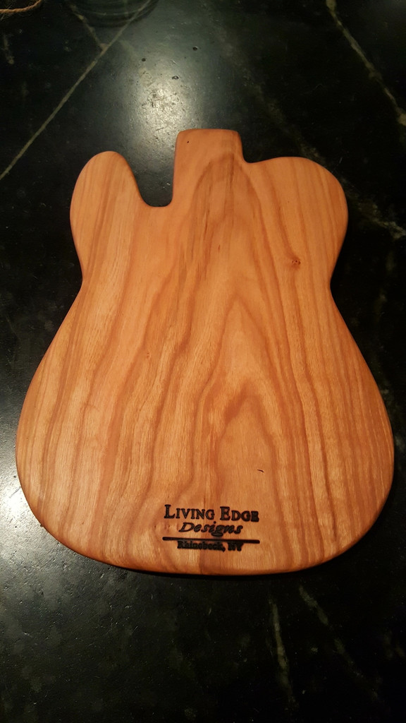 Classic Guitar Shape Cherry Cutting Board
