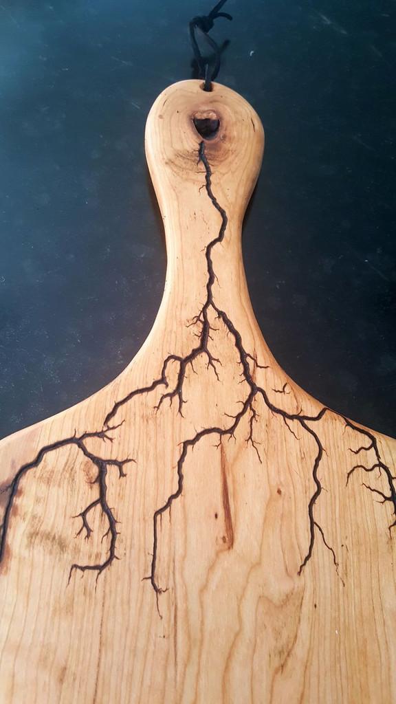 Cherry Paddle with Lightning Strike- Large