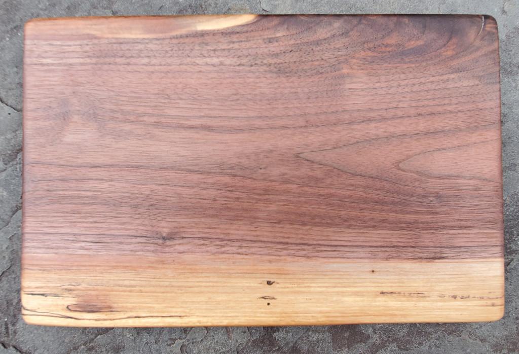 Medium Live Edge Black Walnut Cutting and Serving Board