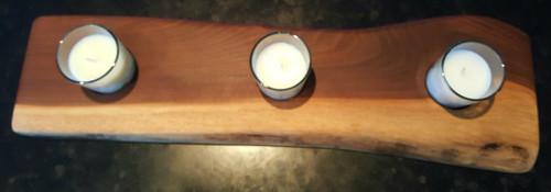 Live Edge Triple Votive Candle Holder