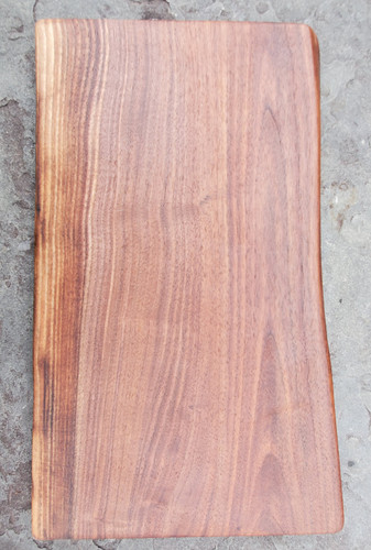 Black Walnut live edge flat board face