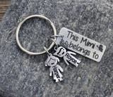 """""""This belongs to MAMA"""" Personalized Engraved Keychain (1111)"""