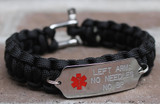 One Sided Medical Alert Bracelet (Choose your colors)