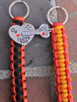"""Heart"" & ""Key"" Key Chain Set (Choose your colors)"