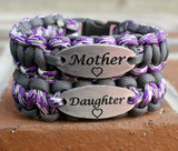Mother & Daughter Charm Tag Bracelet Set