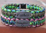 Father & Daughter Charm Tag Bracelet Set