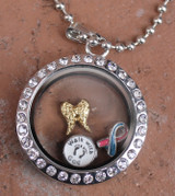 Circle Floating Locket (Choose your charms)