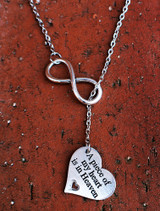"""A piece of my heart is in Heaven"" - Infinity Necklace (388)"