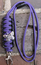 Paracord Lanyard (Choose your colors and Charm)