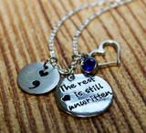 """""""The rest is still unwritten"""" Semi Colon Necklace"""