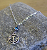 Roped Anchor Necklace
