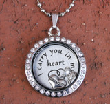 """Grandma"" - ""I carry you in my heart"" Floating Charm Locket"
