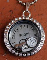 """""""Daughter"""" - """"I carry you in my heart"""" Floating Charm Locket"""
