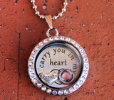 """""""Brother"""" - """"I carry you in my heart"""" Floating Charm Locket"""