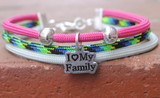 Three Strand Bracelet (Choose your colors and charm)