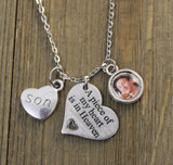Memorial Photo Necklace (Small Circle) (874)