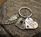 Memorial Custom Heart Key Chain (893)
