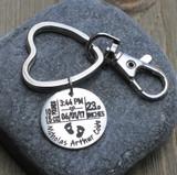 Birth Stats - Engraved Key Chain