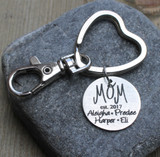 "Mom ""est"" - Engraved Key Chain"