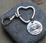 In Loving Memory (Angel Wings) - Engraved Key Chain