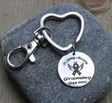 In Loving Memory (Awareness Ribbon) - Engraved Key Chain