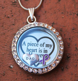"""A piece of my heart"" Floating Charm Locket"