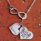 Memorial Infinity Necklace with Engraved Heart