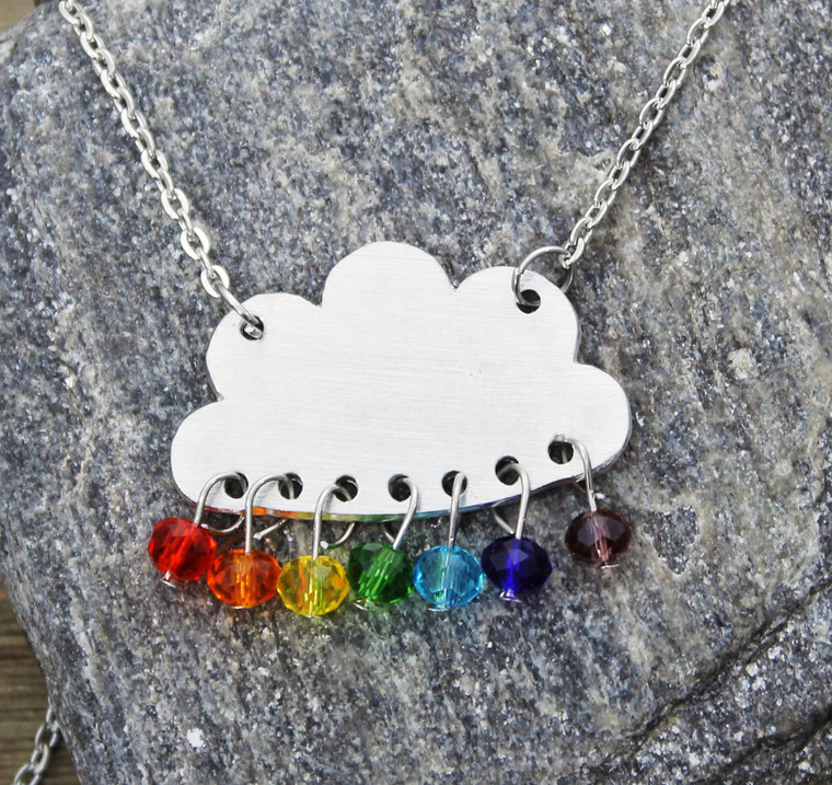 Clouds & RAINbow Necklace
