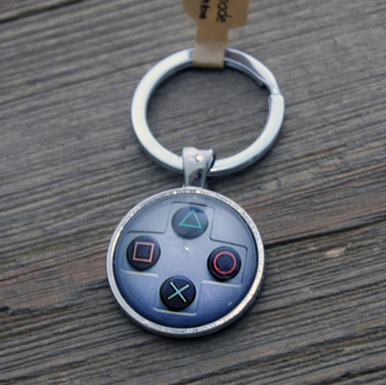 Playstation controller buttons Key chain