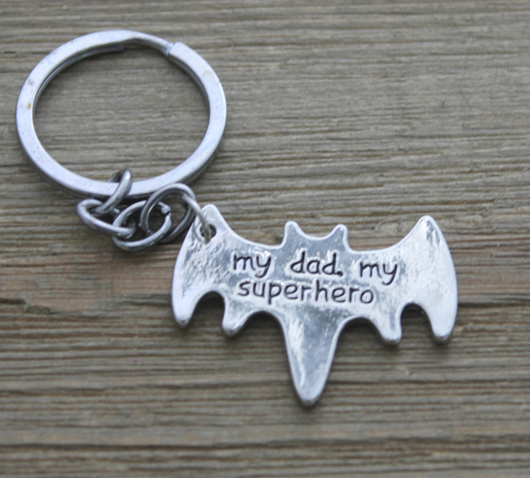 My Dad, My Superhero - Key Chain