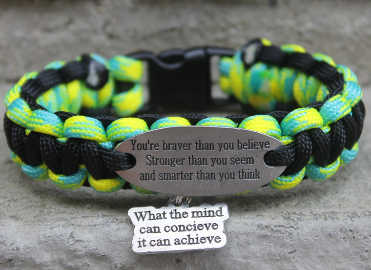 """""""You are braver than you believe Stronger than you Seem and Smarter than you think"""" Charm Tag Bracelet"""