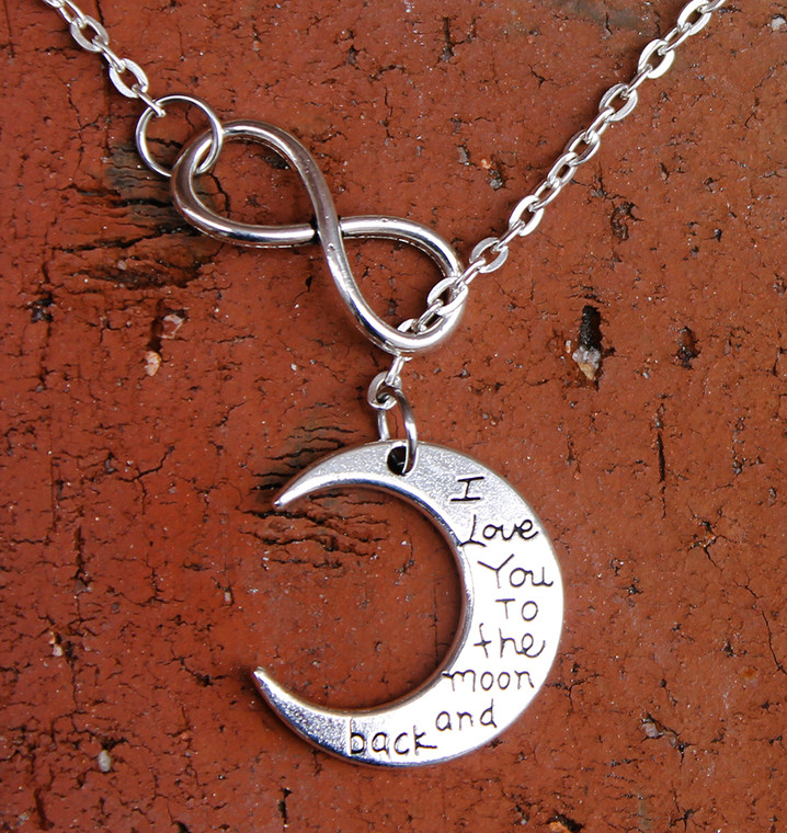 """Infinity Necklace - """"I Love You to the Moon and Back"""""""