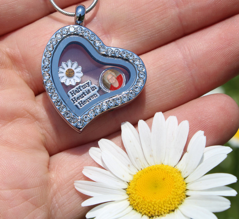 Heart Floating Charm Locket with Photo (445)