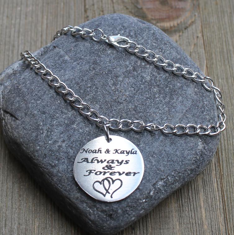 Always & Forever - Engraved Chain Bracelet