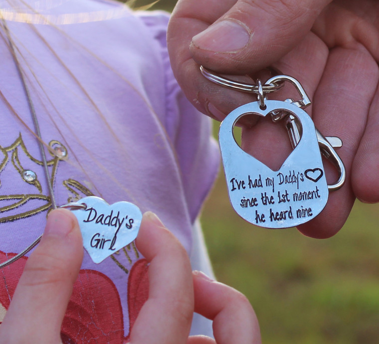 """""""I have had my Daddy's Heart..."""" Necklace and Key Chain Set"""