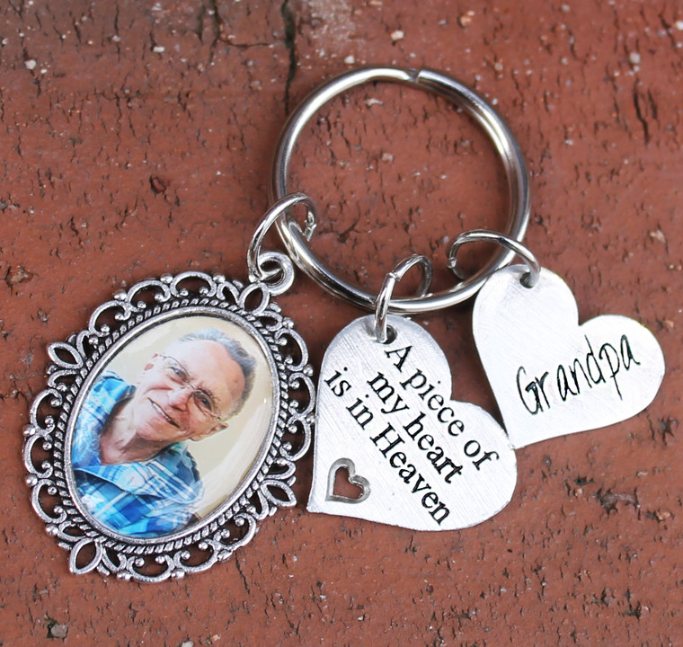 Memorial Photo Key Chain (Choose you Charms)
