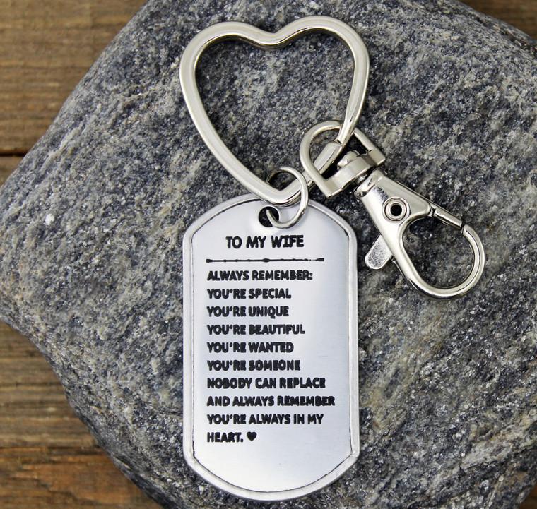 """""""To My Wife"""" Key Chain"""