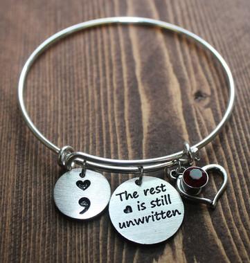 The Rest Is Still Unwritten Bangle Bracelet