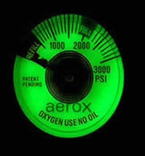 4110-484, Aerox 3000 PSI Fluorescent Pressure Gauge, A0511